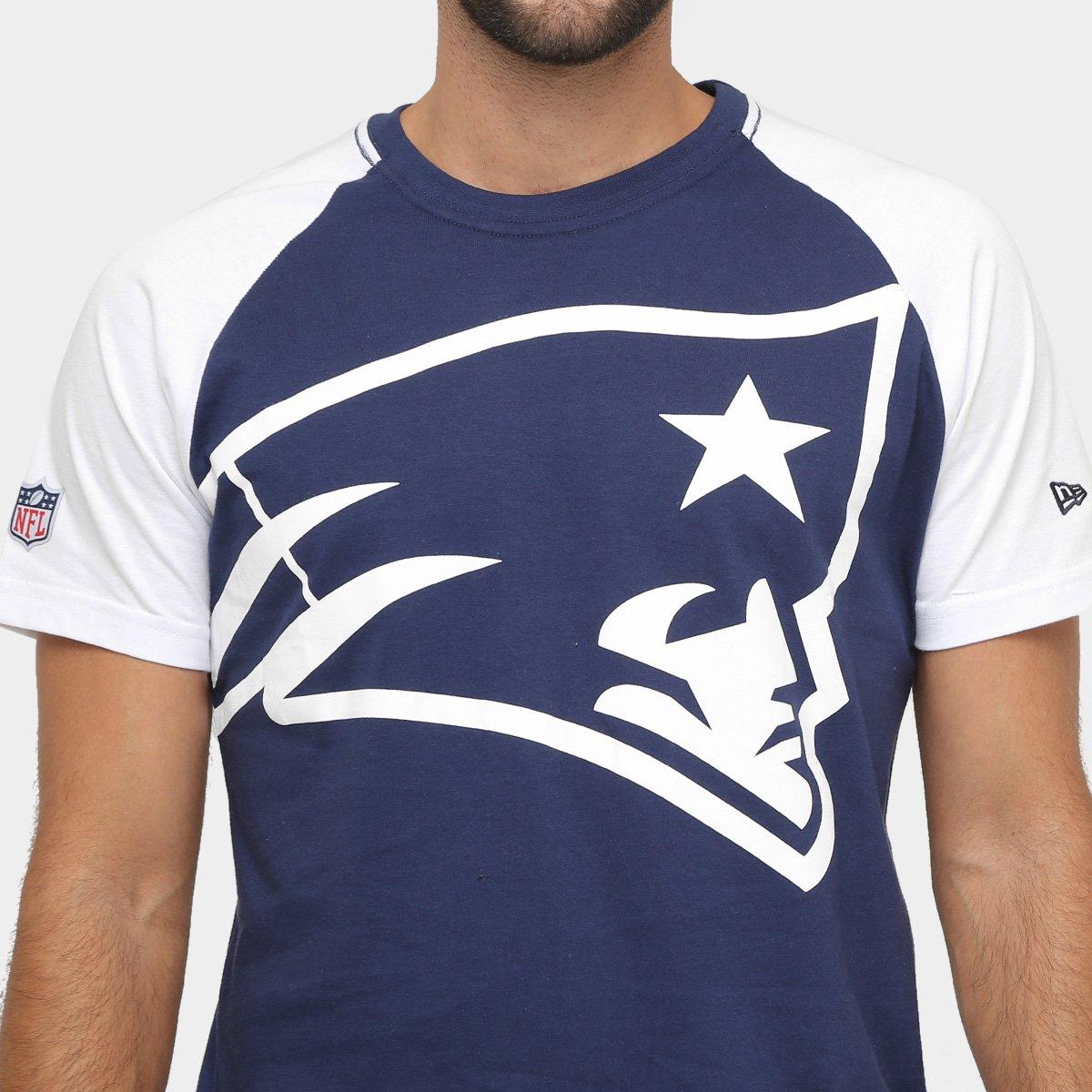 Camiseta New England Patriots New Era NFL Big Logo Raglan Masculina ... 134586a96a5f7