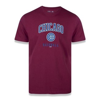 Camiseta New Era Chicago Cubs MLB Wordmark Vermelho