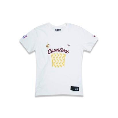 Camiseta New Era Juvenil Cesta Cleveland Cavaliers NBA