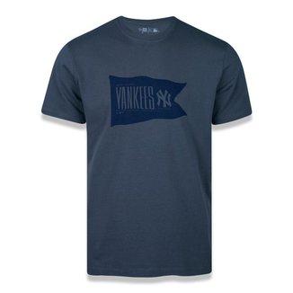 Camiseta New Era Manga Curta New York Yankees Heritage Flag