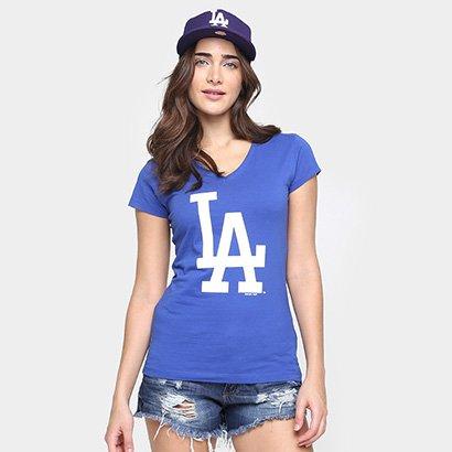 Camiseta New Era MLB Babby Look Los Angeles Dodgers Feminina