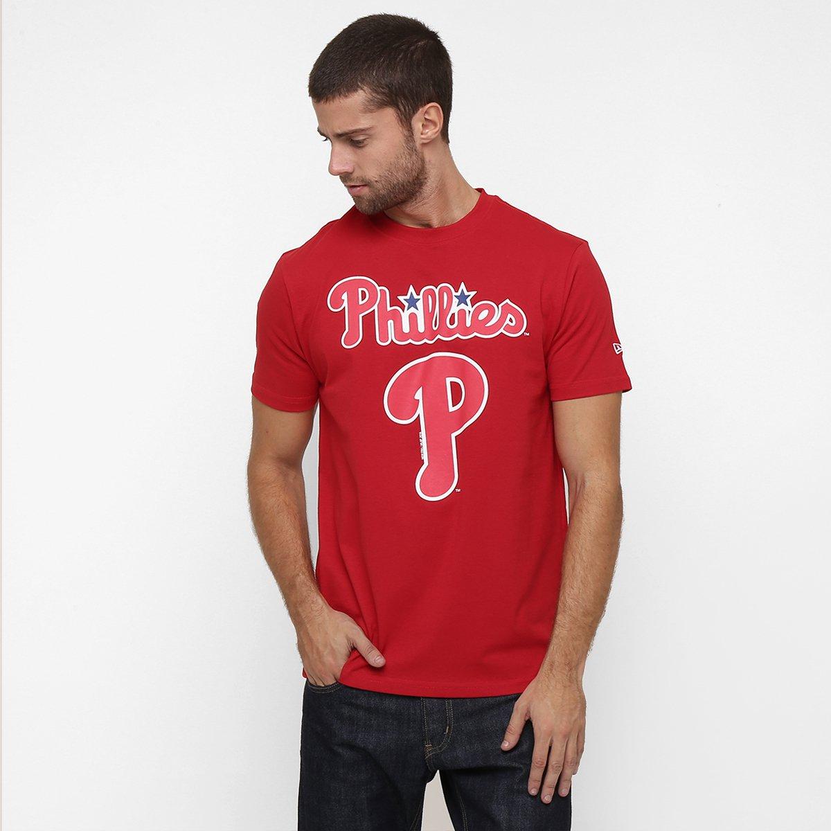 Camiseta New Era MLB Basic Philadelphia Phillies - Compre Agora ... b6a24799171