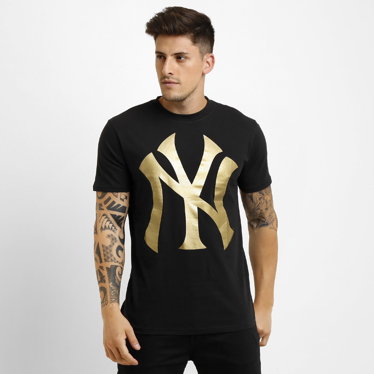 Camiseta New Era MLB Color New York Yankees 10 - Preto e Dourado - Compre  Agora  835a19a7164