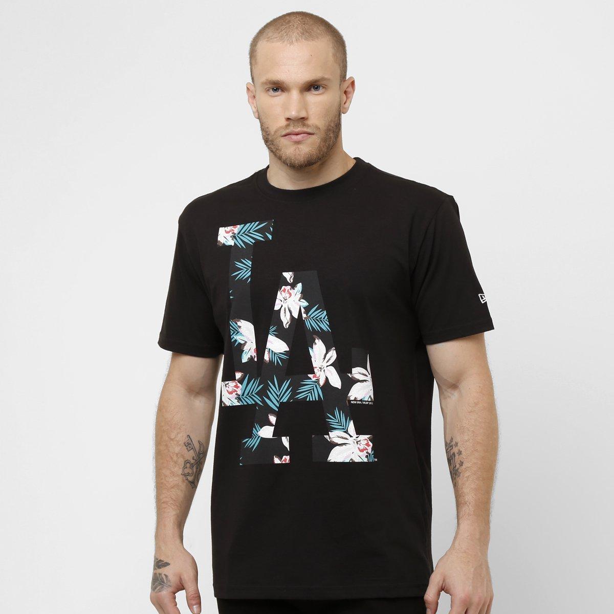 c654b35682dfa Camiseta New Era MLB Floral Los Angeles Dodgers - Compre Agora ...