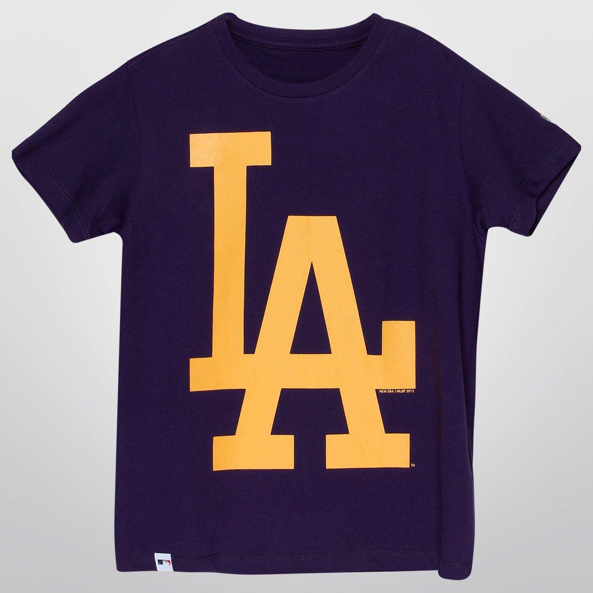 744448ab6605a Camiseta New Era MLB Los Angeles Dodgers Infantil - Compre Agora ...