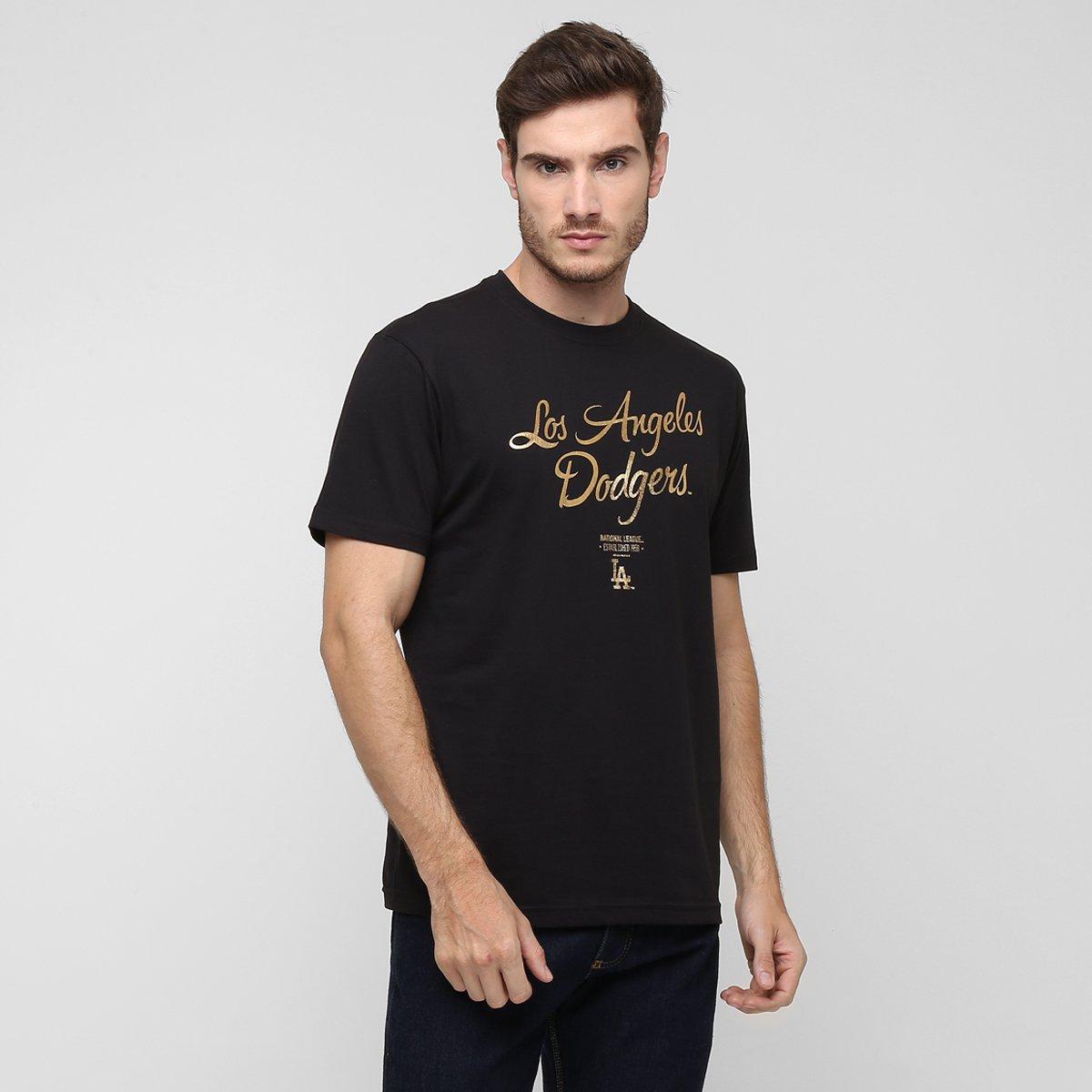 cac1f9e8a4059 Camiseta New Era MLB Nac Gold 10 Los Angeles Dodgers - Compre Agora ...