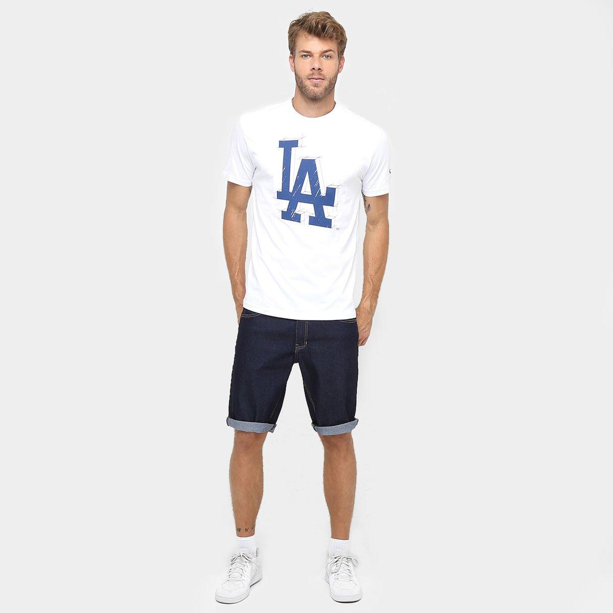 Camiseta New Era MLB Nac Sketch 3 Los Angeles Dodgers - Compre Agora ... 1116bd26e39
