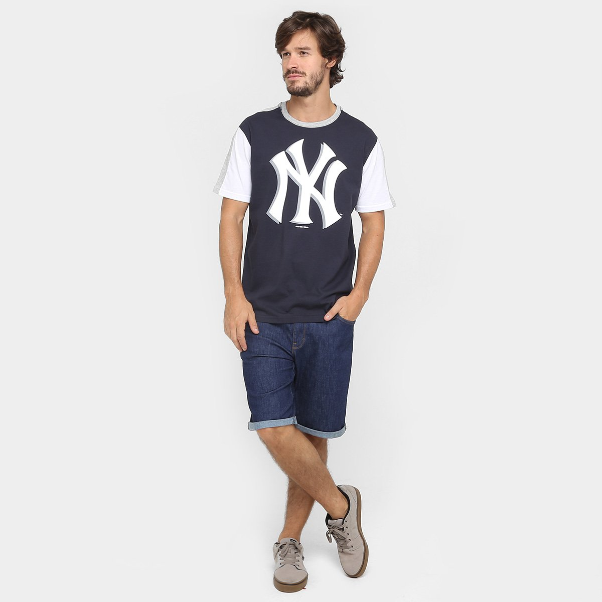Camiseta New Era MLB Tape 27 New York Yankees - Compre Agora  73d06f44cce