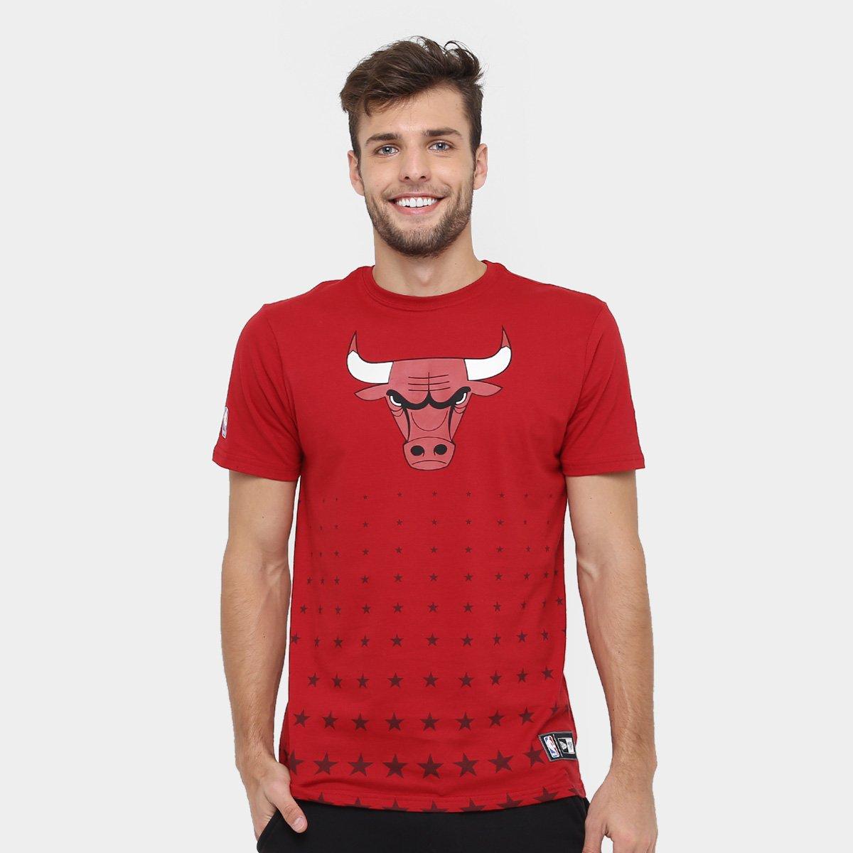 Camiseta New Era NBA Constallation Chicago Bulls - Vermelho - Compre ... 1c53a74b00d