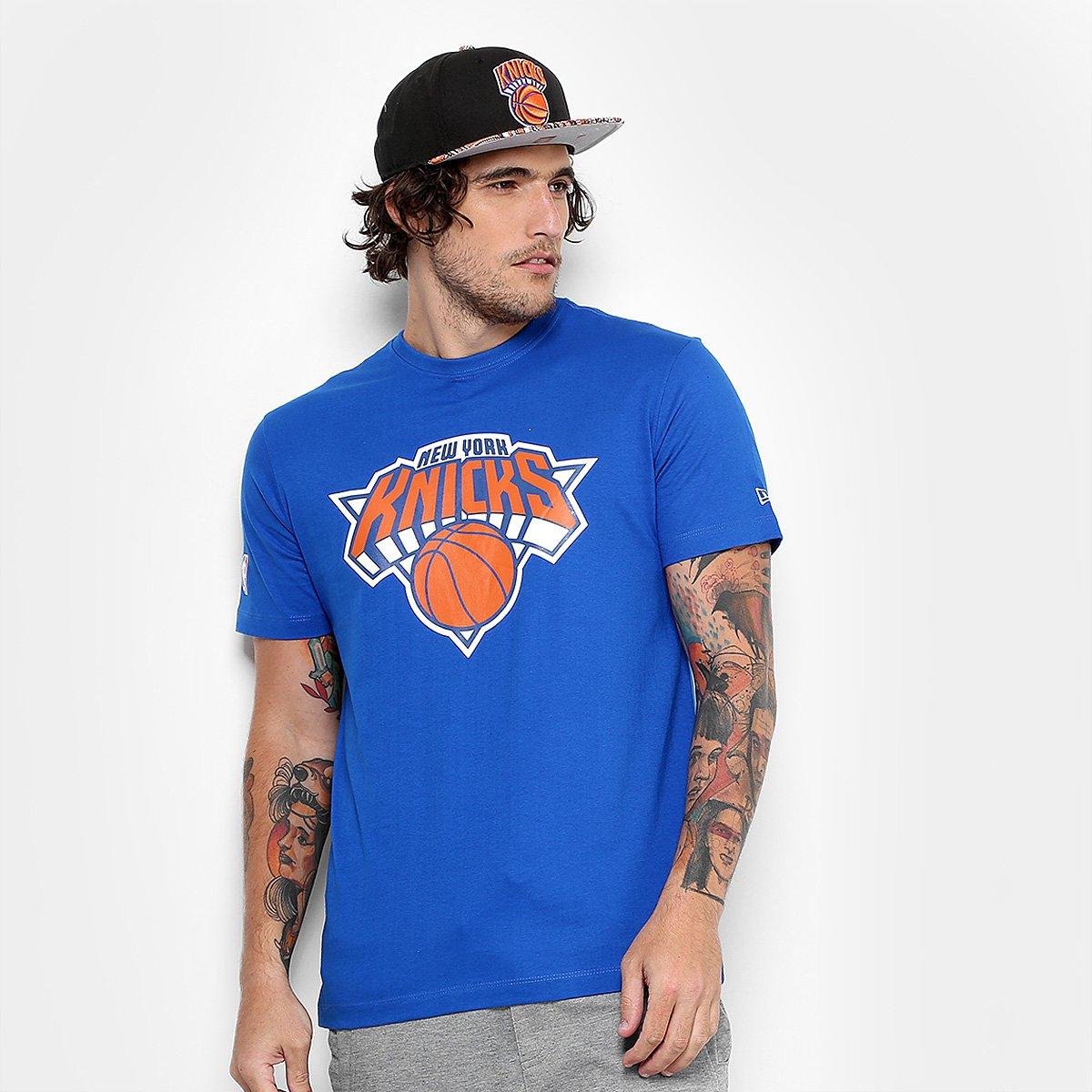 Camiseta New Era NBA New York Knicks Basic Logo Masculina - Azul - Compre  Agora  13b79d0a62ee4