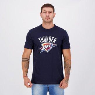 Camiseta New Era NBA Oklahoma City Thunder Marinho