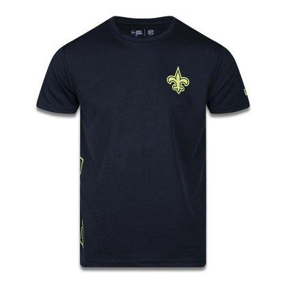 Camiseta New Era New Orleans Saints NFL Tech Side Preto