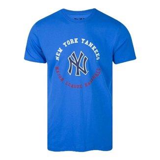 Camiseta New Era New York Yankees College Baseball - Azul