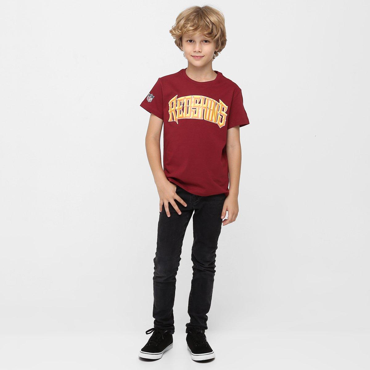 bff2ef436f Camiseta New Era NFL Chisel Washington Redskins Infantil - Compre ...