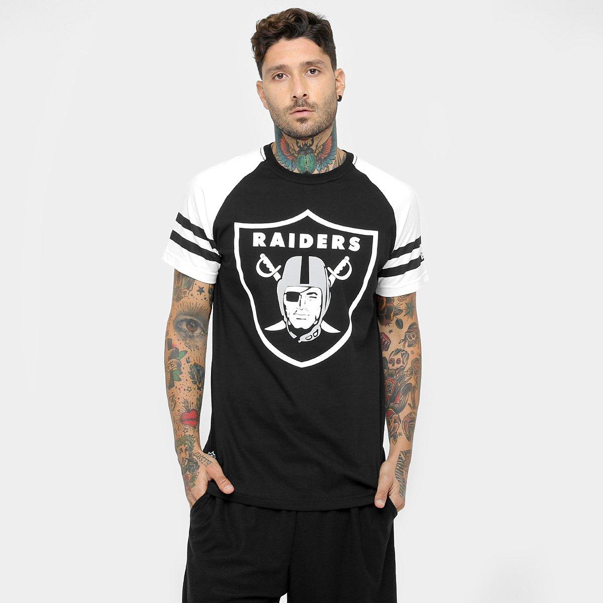 3f1b4a069adda Camiseta New Era NFL Logo Raglan Oakland Raiders - Compre Agora ...