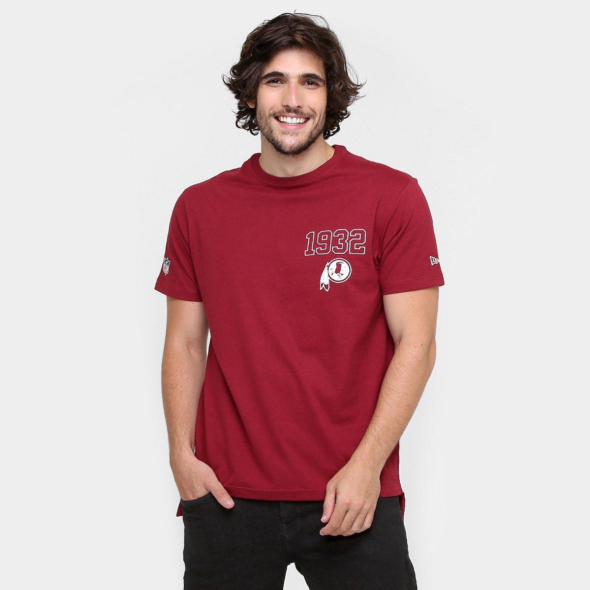 116ed6bf1 Camiseta New Era NFL Longer Washington Redskins - Compre Agora ...