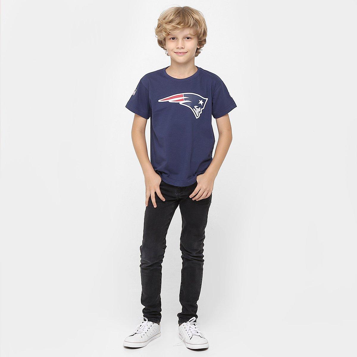 Camiseta New Era NFL New England Patriots Infantil - Compre Agora ... cb4f54cbd88