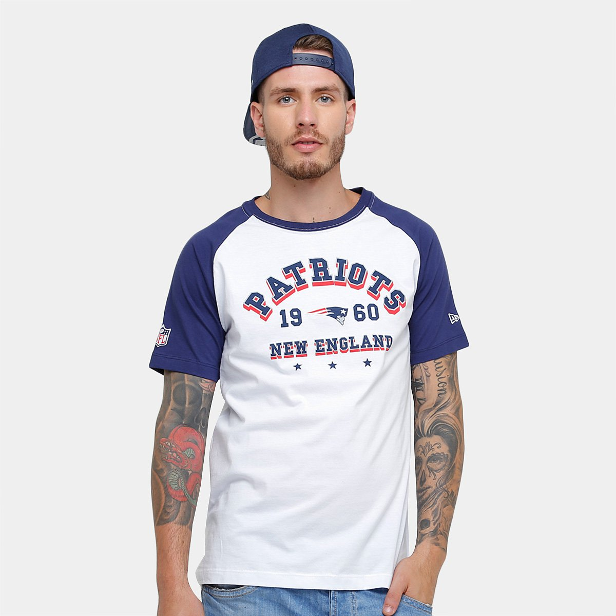 daf264680 Camiseta New Era NFL New England Patriots Sinse Team Masculina - Branco -  Compre Agora