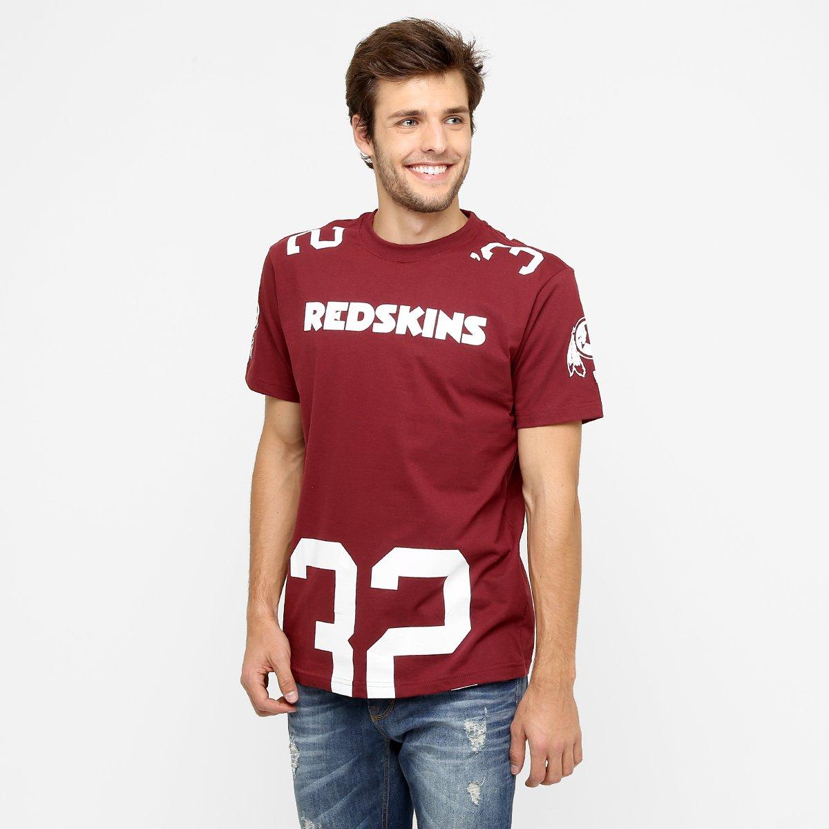 4b3c5e41f Camiseta New Era NFL Number Cut Washington Redskins - Compre Agora ...