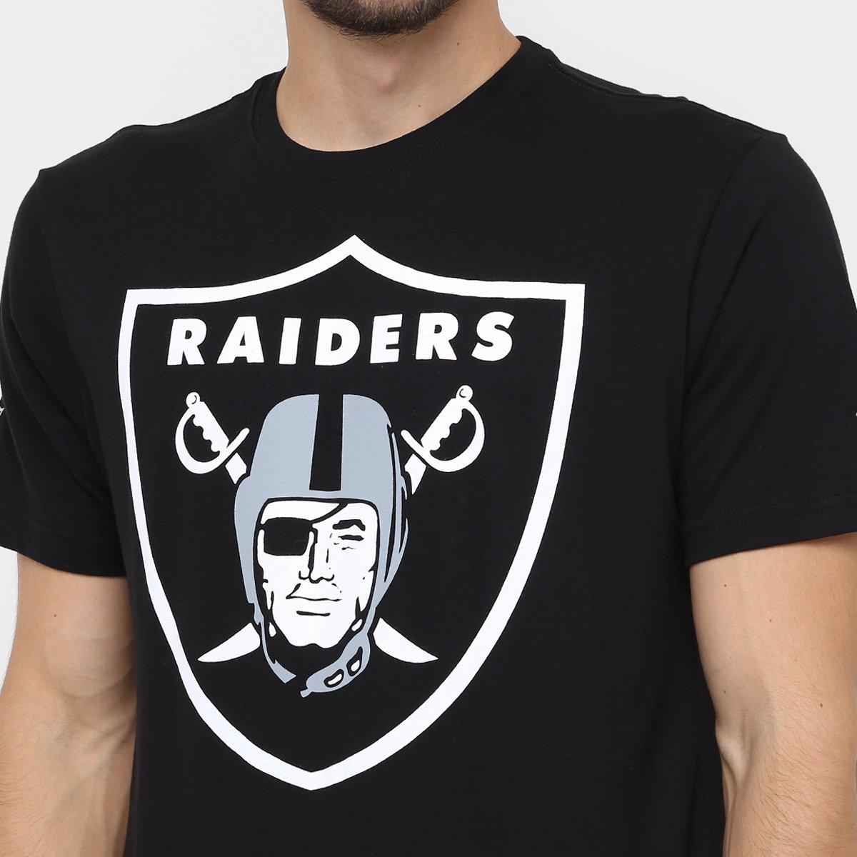 Camiseta New Era NFL Oakland Raiders - Preto - Compre Agora  340cacc652b
