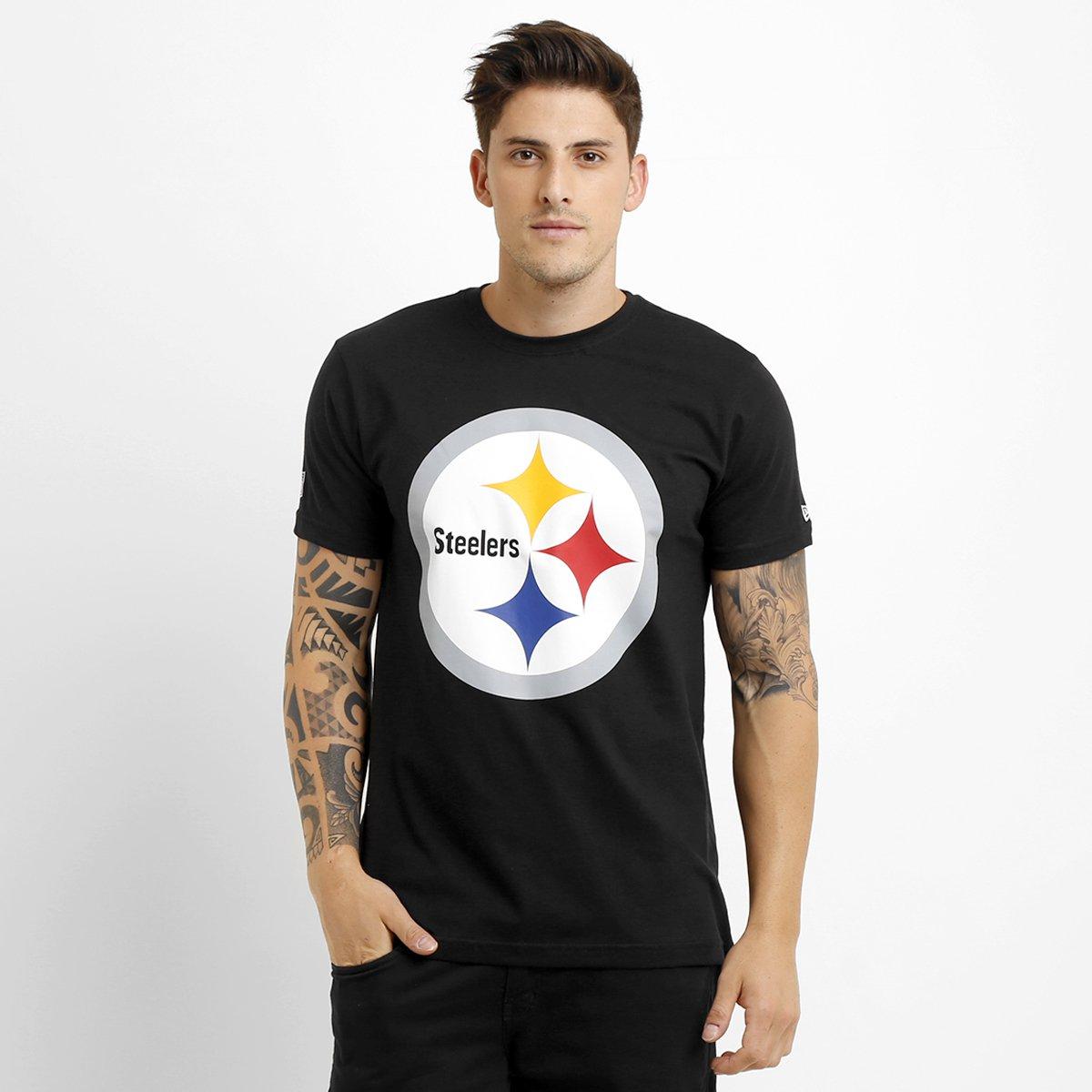 1690229de621e Camiseta New Era NFL Permanente Pittsburgh Steelers - Preto - Compre Agora