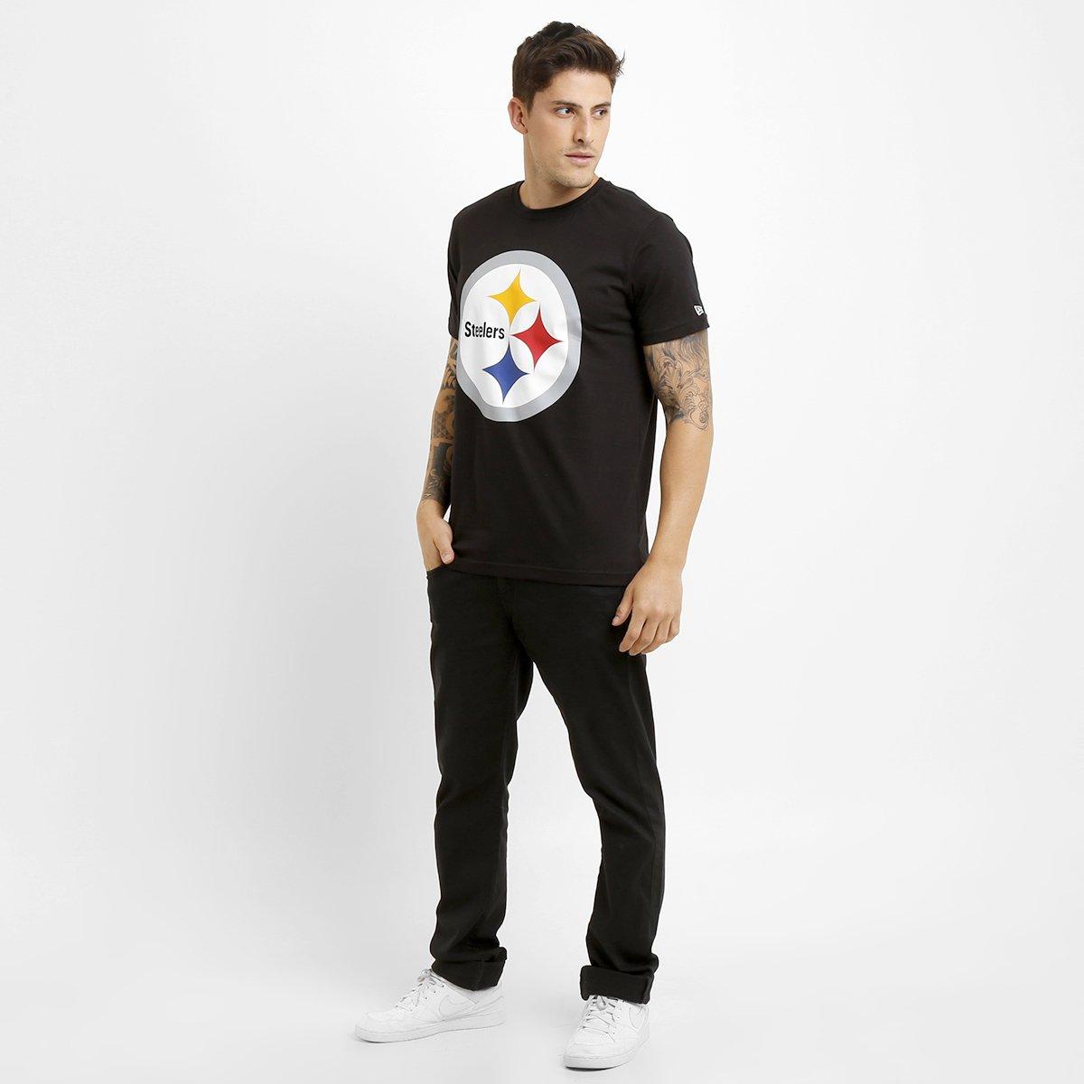 Camiseta New Era NFL Permanente Pittsburgh Steelers - Preto - Compre ... ead8dba88453e