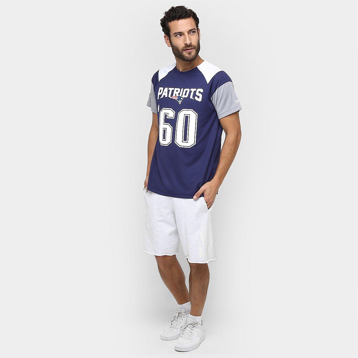 Camiseta New Era NFL Raglan Recorte New England Patriots - Compre ... f93a0888d9b