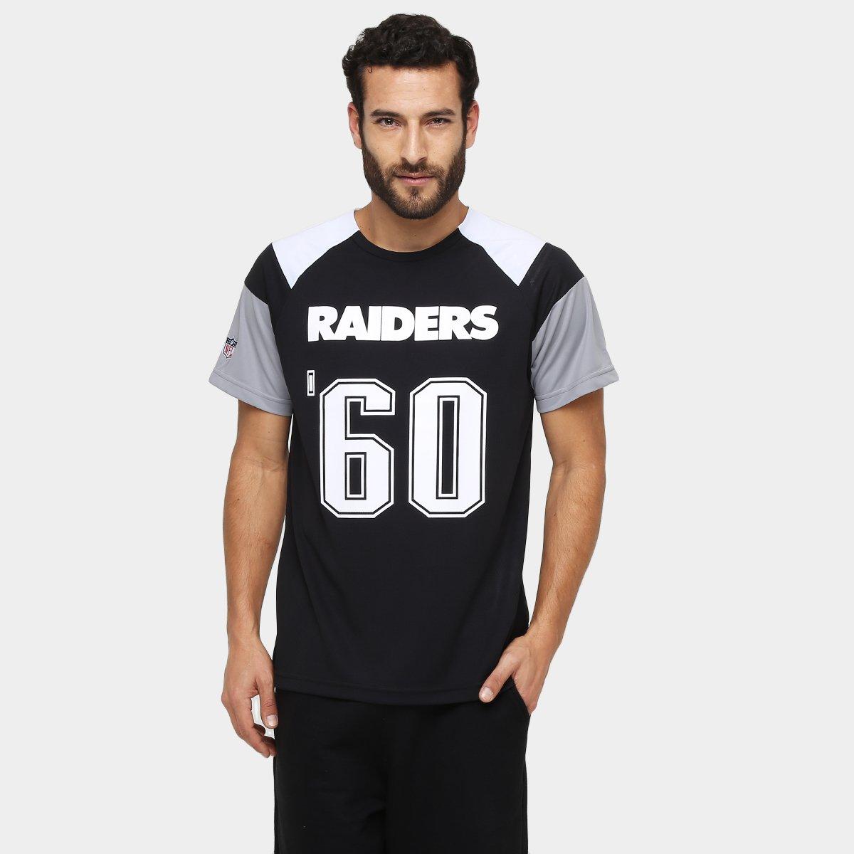 74ddc6844d118 Camiseta New Era NFL Raglan Recorte Oakland Raiders - Compre Agora ...