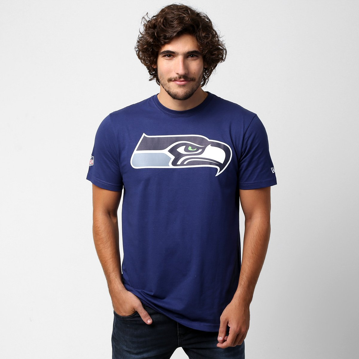 e7bca03aa Camiseta New Era NFL Seattle Seahawks - Azul Escuro - Compre Agora ...