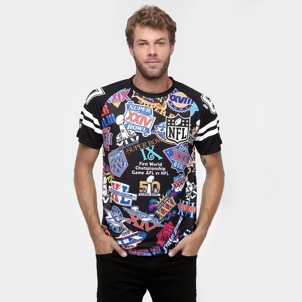 Camiseta New Era NFL Superbowl Prints - Compre Agora  5605f6c888b