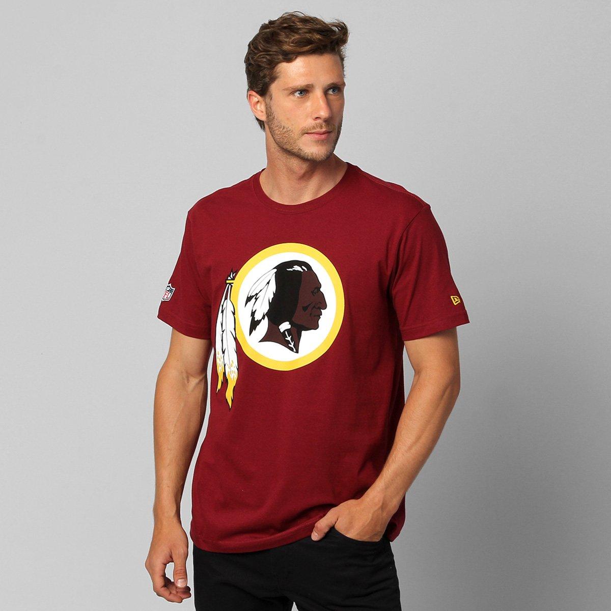 bb697be6d0cb7 Camiseta New Era NFL Washington Redskins - Vinho - Compre Agora ...