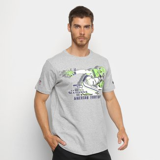 Camiseta New Era Seatle Seahawks Versatile Sport Player Masculina