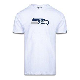 Camiseta New Era Seattle Seahawks Logo Time NFL