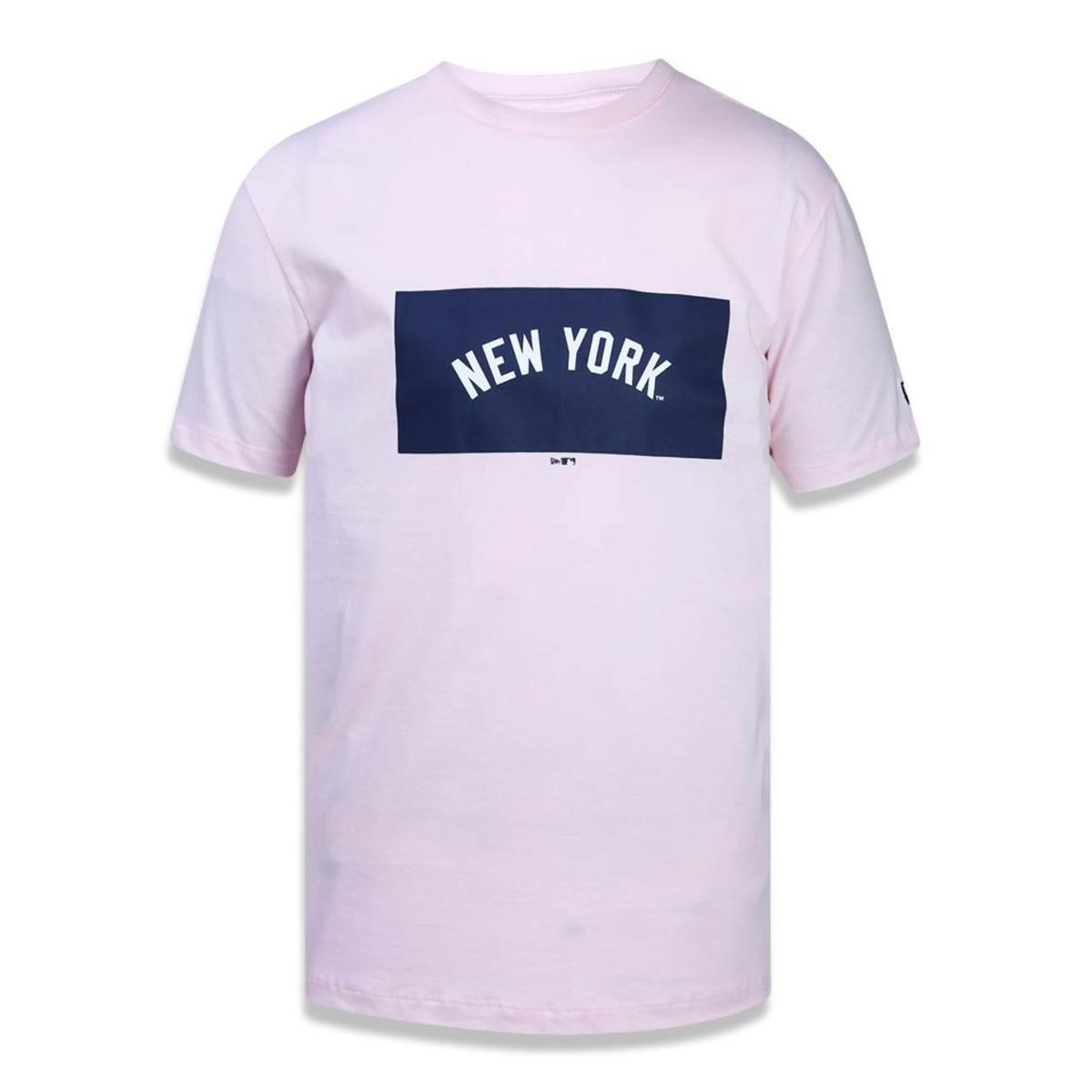 Camiseta New York Yankees MLB New Era Masculina - Rosa Claro - Compre Agora   72bf1663168