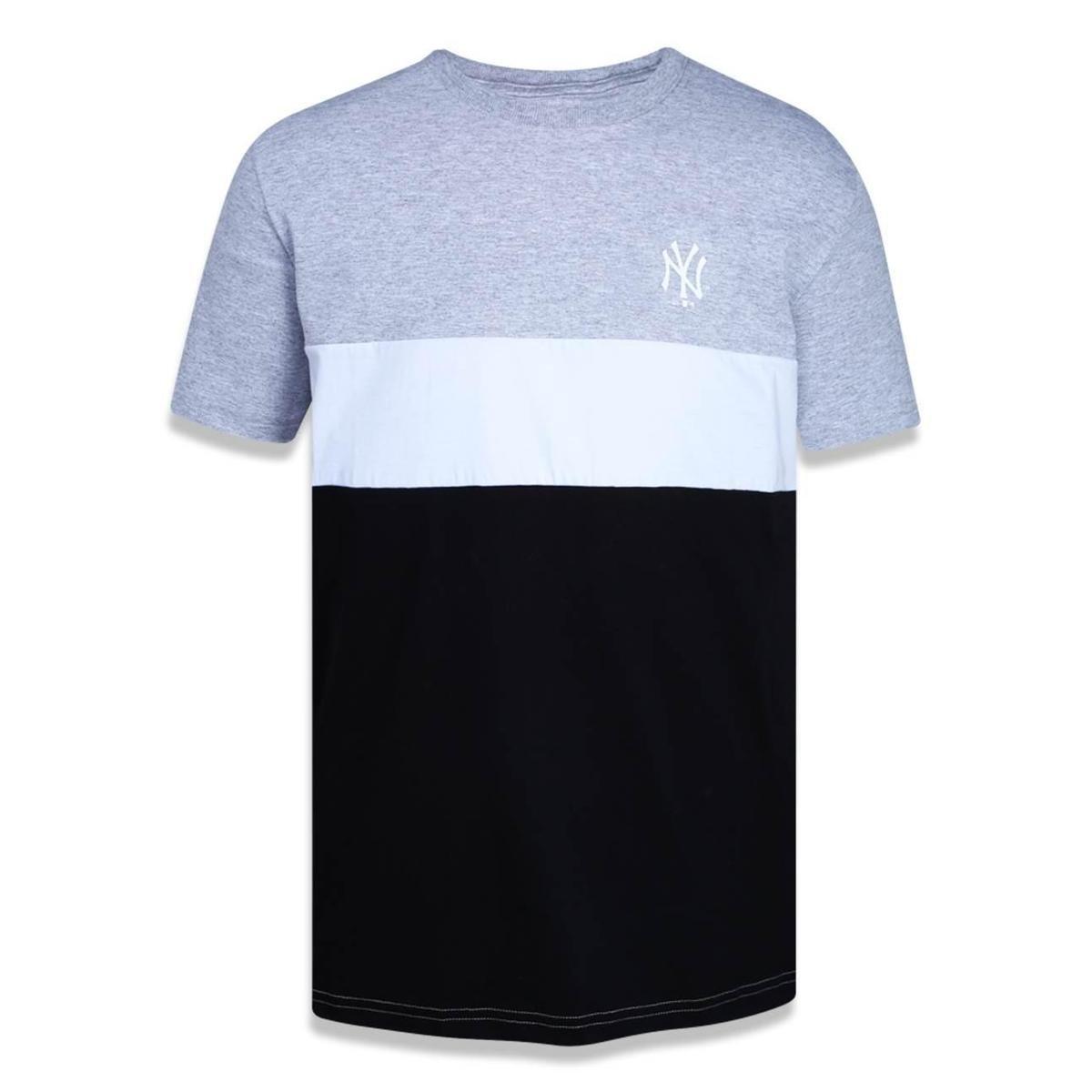 Camiseta New York Yankees MLB New Era Masculina - Mescla Claro ... 9904dc08fae