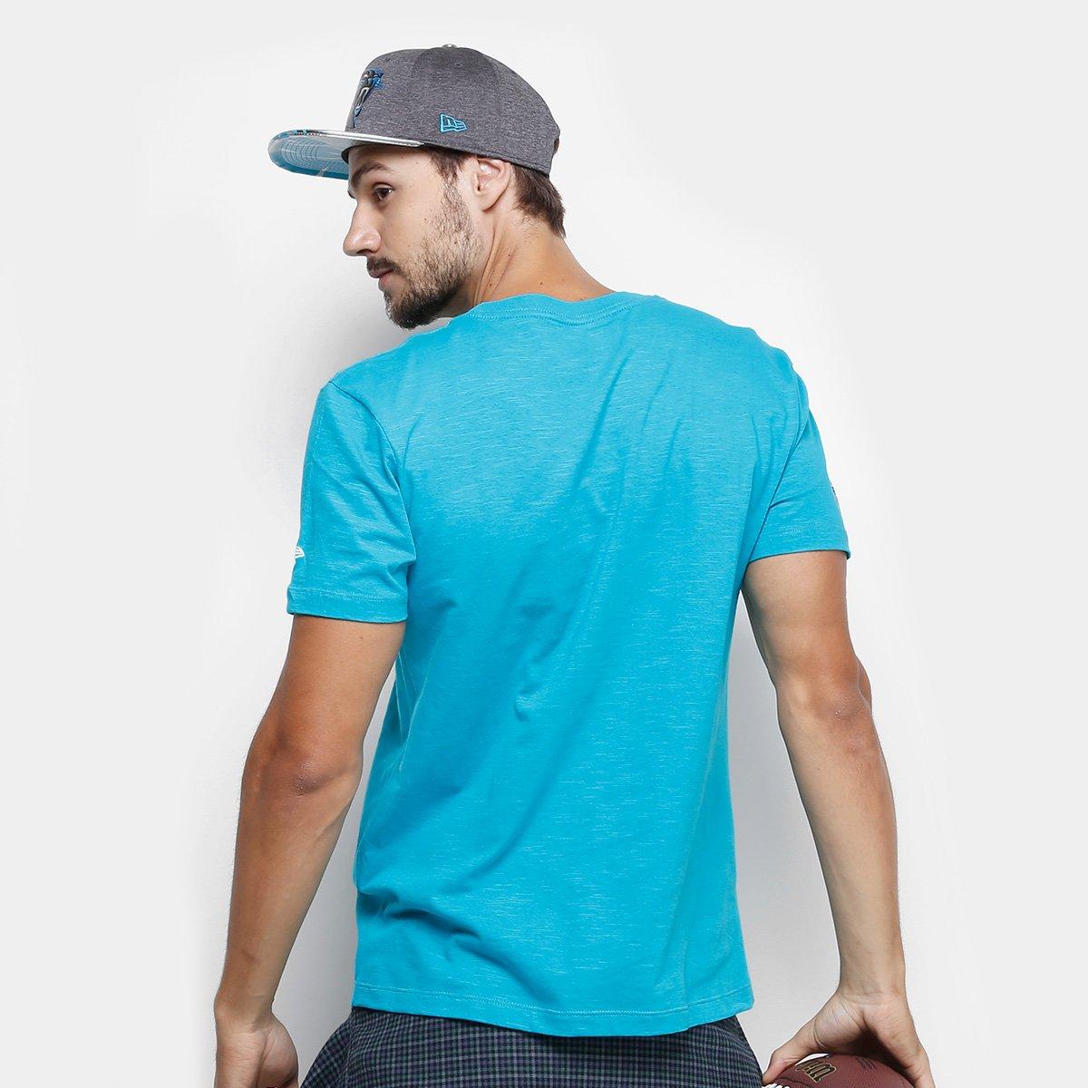 Camiseta NFL Carolina Panthers New Era Team Masculina - Azul ... 9e9f7c1a09c