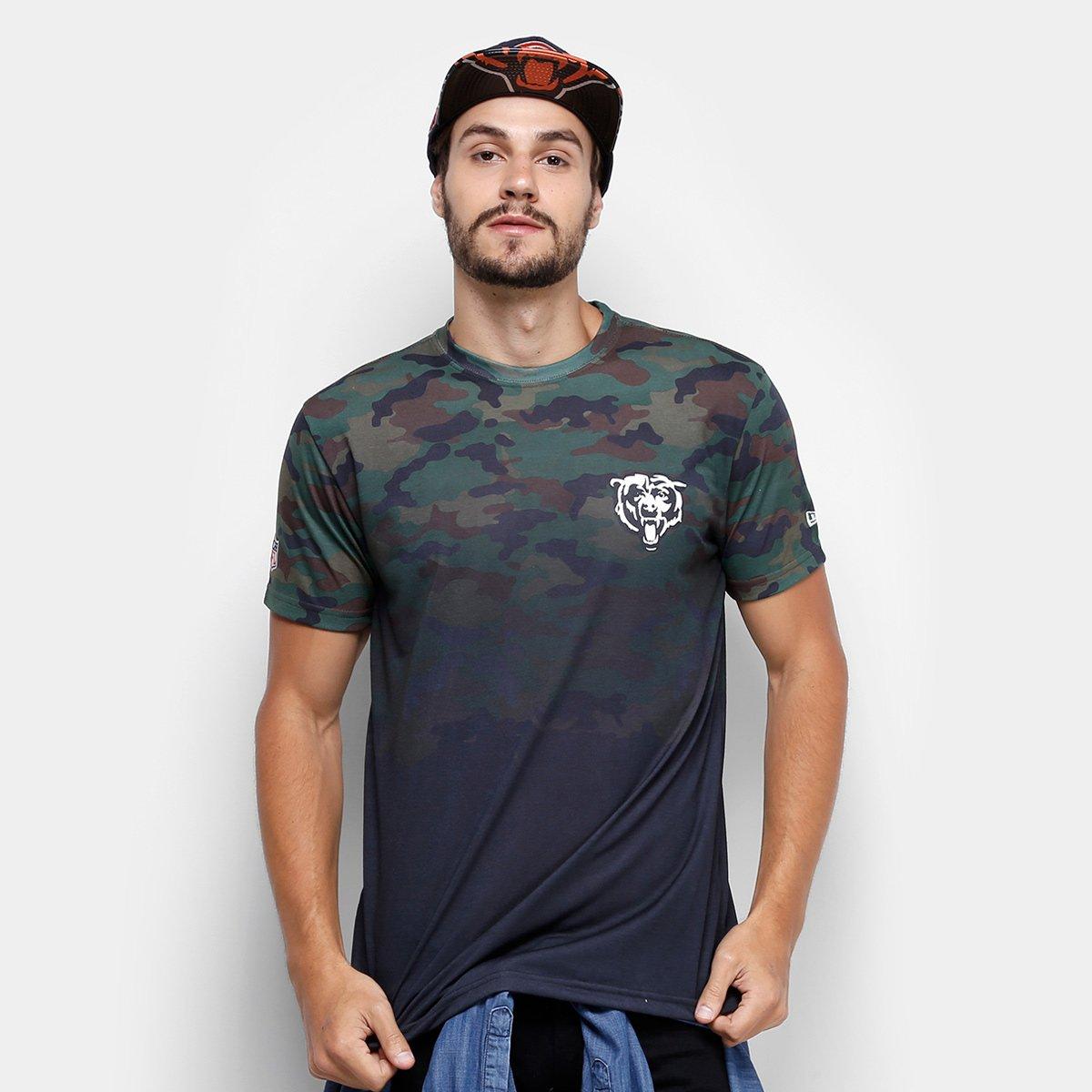 Camiseta NFL Chicago Bears New Era Camo Masculina - Verde - Compre Agora  7ba961c675d