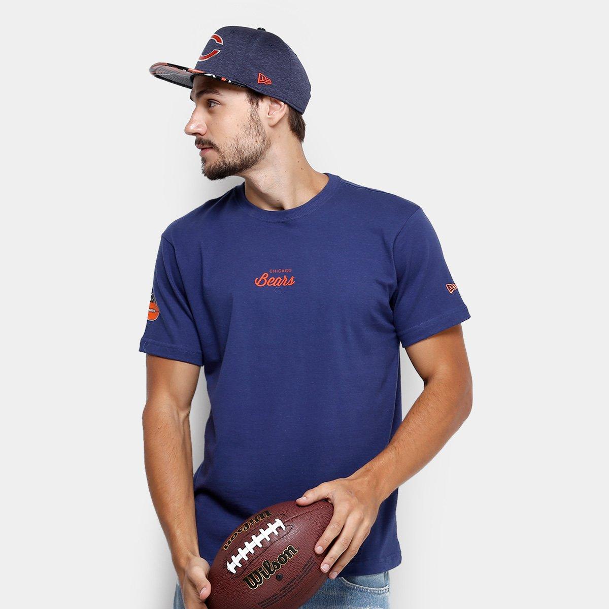 Camiseta NFL Chicago Bears New Era Lic Masculina - Marinho - Compre Agora  b4f21f1e2da30