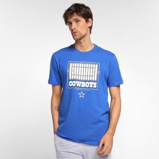 Camiseta NFL Dallas Cowboys New Era Dual Sport Field Masculina - Azul
