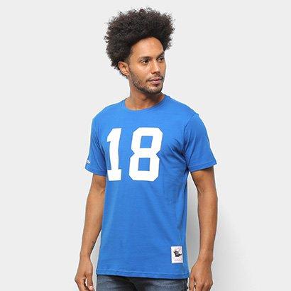Camiseta NFL Indianapolis Colts nº 18 Peyton Manning Mitchell & Ness Masculina