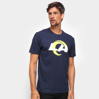 Camiseta NFL Los Angeles Rams New Era Basic Time Masculina