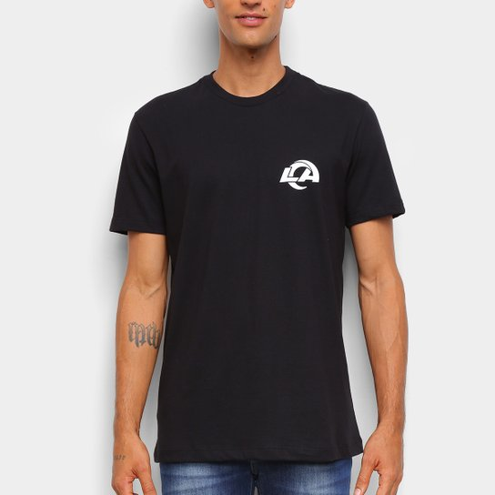 Camiseta NFL Los Angeles Rams New Era Masculina - Preto