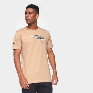 Camiseta NFL New England Patriots New Era Military Logo Camo Masculina