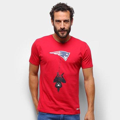 Camiseta NFLPatriots Spider-Man Marvel Masculina TSM0339