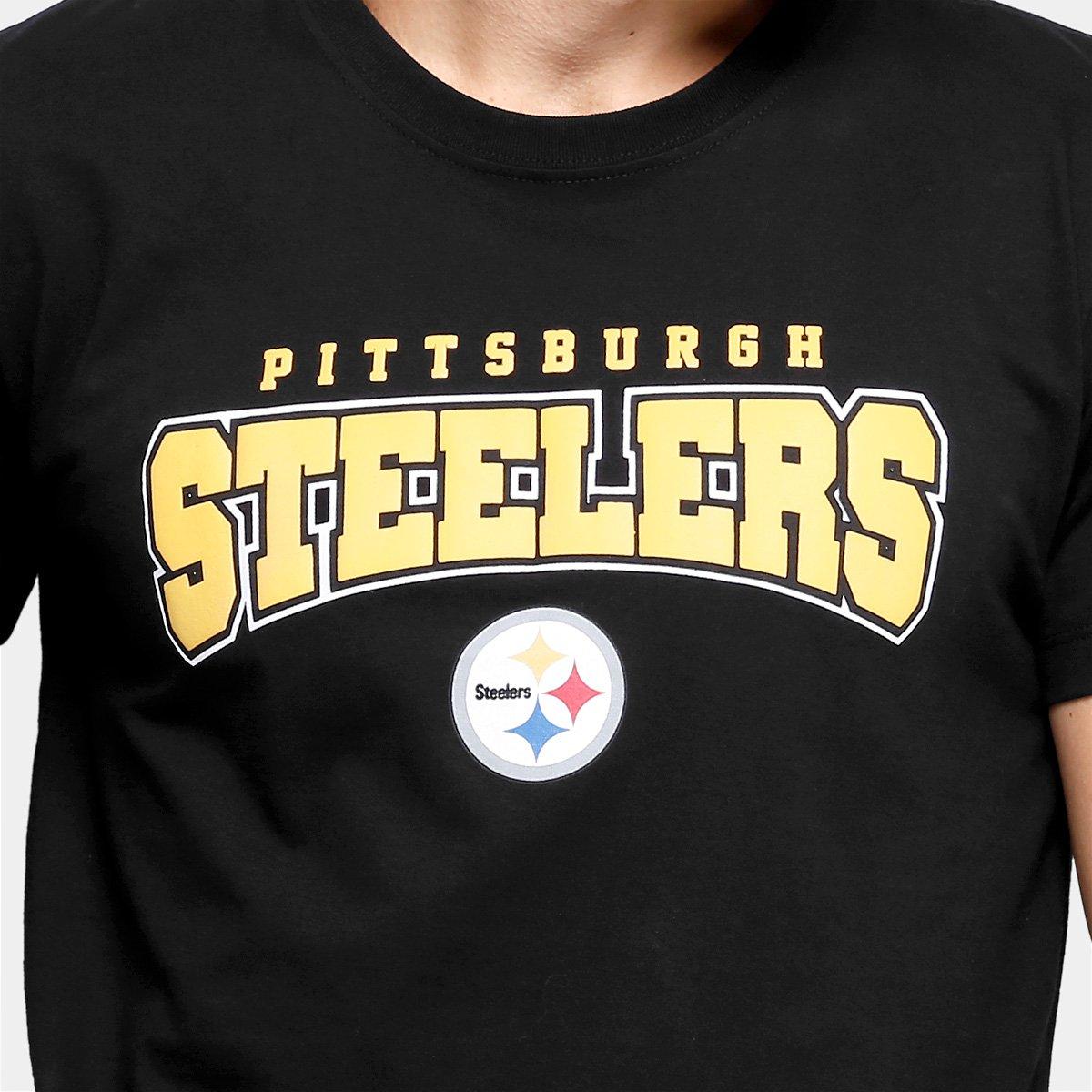 2e0fed3137bed ... Camiseta NFL Pittsburgh Steelers New Era Sports Team Masculina - Preto.  OFERTAS  OPEC