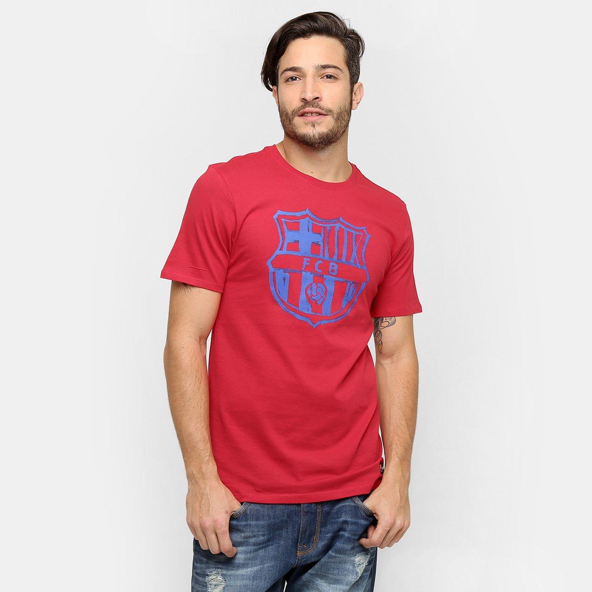 Camiseta Nike Barcelona Crest - Compre Agora  df885911e02d2