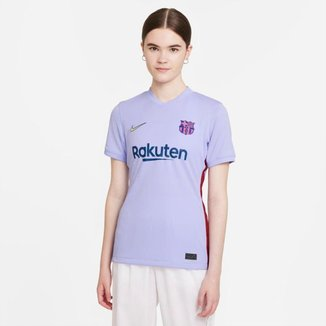 Camiseta Nike Barcelona II 2021/22 Torcedor Feminina