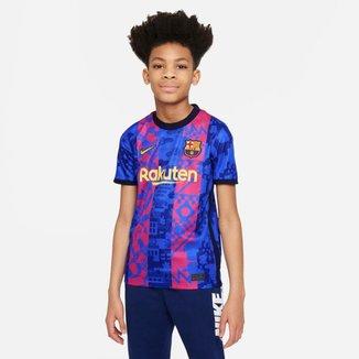 Camiseta Nike Barcelona III 2021/22 Torcedor Pro Infantil