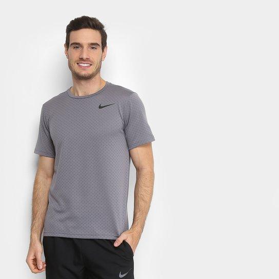 Camiseta Nike Brt Ss Vent Masculina - Cinza+Preto