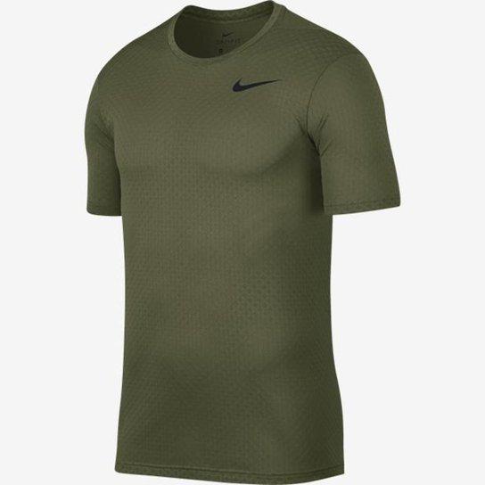 Camiseta Nike Brt Ss Vent Masculina - Preto+verde